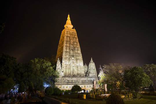 Mahabodhi temple in Bodhgaya. India