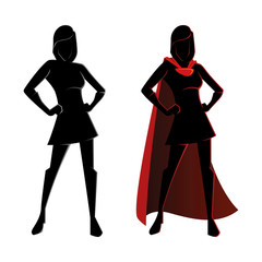 Female Superhero Silhouette