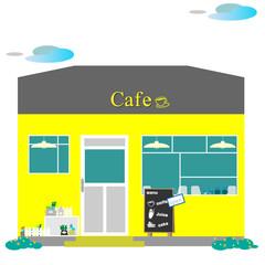 カフェ、カフェテリア、町並み、町の喫茶店