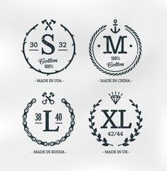Size Emblems Templates