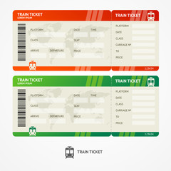 Vector train tickets.
