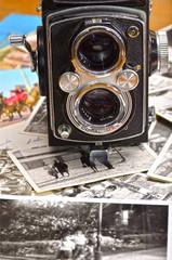 Antigua cámara fotográfica de medio formato