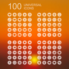 Vector Set of 100 Icons for Web Design
