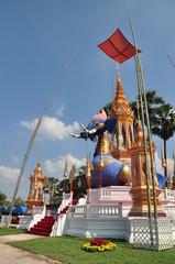 Thai Monk Crematory elephant