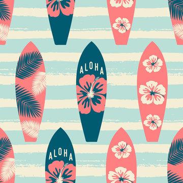 Surf Boards Seamless Pattern