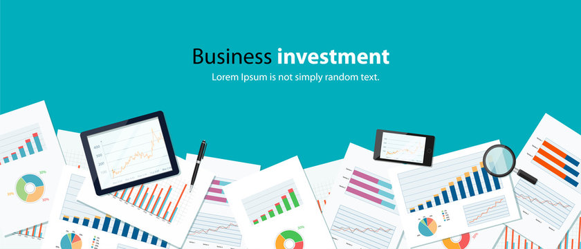 business  finance investment background  banner concept