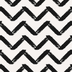 Hand Drawn Chevron Seamless Pattern