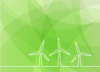 wind turbine green background