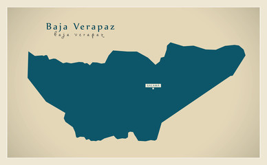 Modern Map - Baja Verapaz GT