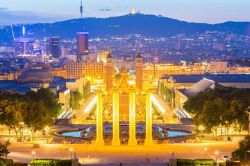 Autocollant pour porte Barcelona Plaza de Espana Barcelona