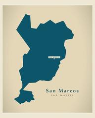 Modern Map - San Marcos GT