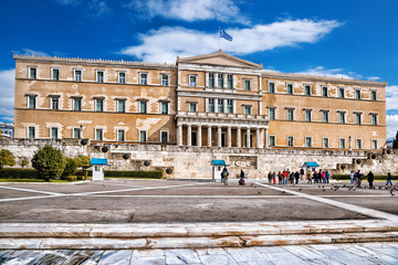 The Greek parliament in Athens, Greece