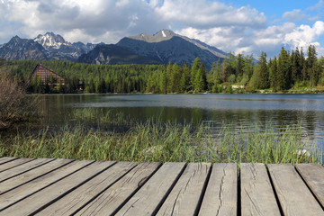 beautiful lake in Slovakia Tatra Mountains -Strbske Lake