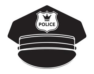 Police cap vector illustration