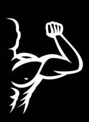 Fitness Bodybuilder vector icon