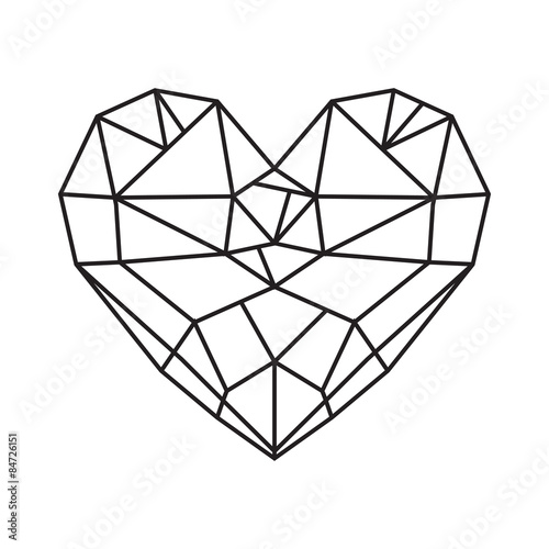how to draw a diamond heart