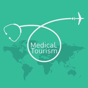 medical tourism vector background