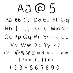 Vector alphabet and numbers