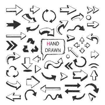 Hand Drawn arrows big set