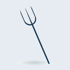 Garden fork vector icon