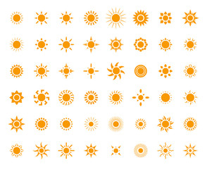 Sun symbols set for you design