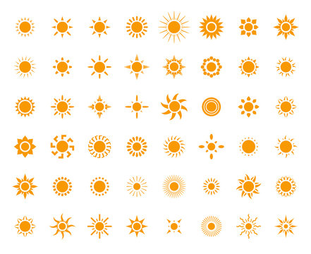 Sun symbols set for you design