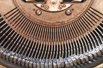 Symbol and mechanism of old typewriter.