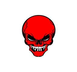 Иллюстрация красный череп