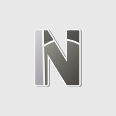 Abstract icon based on the letter n