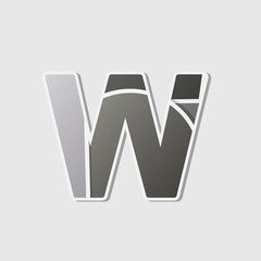 Abstract icon based on the letter w