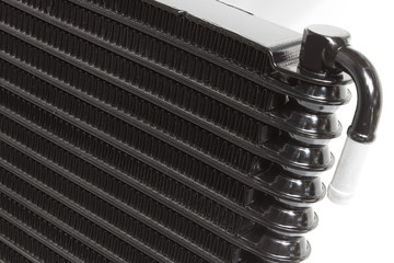 texture of the new engine cooling radiators