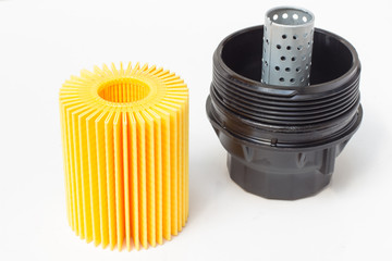 engine oil filter with plastic housing