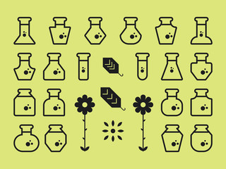 Flat Alchemy Icons