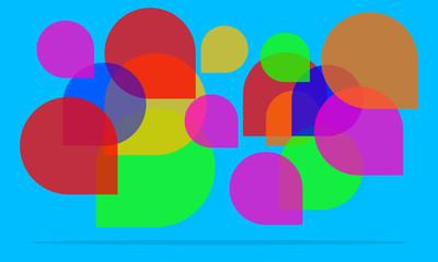 Speech Bubble New Design abstarct background