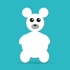Teddy Bear Toy icon isolated