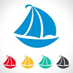 yacht - boat symbol vector