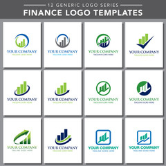 12 Generic Logo Series: Finance Logo Templates