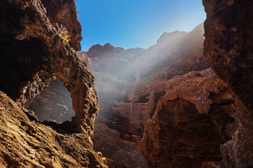 Staande foto Canyon Famous canyon Masca at Tenerife - Canary
