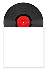 Record Blank White Album Cover Envelope