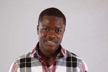 Handsome Black man smiling