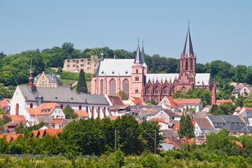Stadtansicht des mittelalterlichen Oppenheim am Rhein