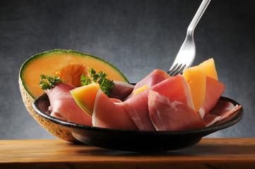 Prosciutto crudo y melon