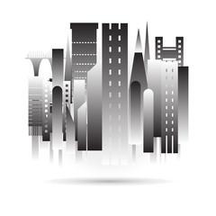 city building black icon design in vector format