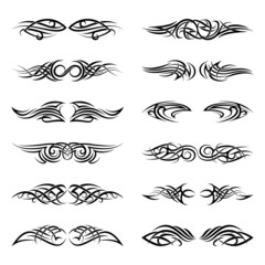 Vector tribal tattoos