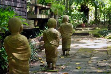 Monk sculpture in the park