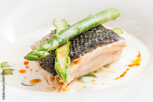 White fish with asparagus stock photo and royalty free for Fish and asparagus