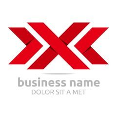 Logo letter x symbol vector