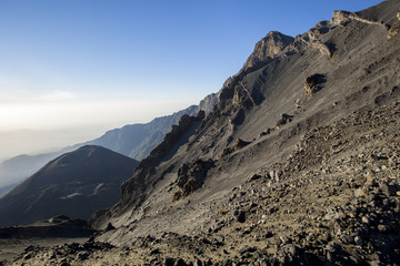 Mt Meru and ash cone. Tanzania. Africa.