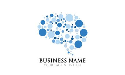 Dot Brain Imagination Logo