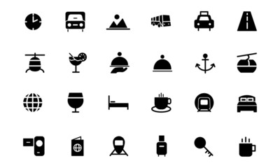 Travel Vector Solid Icons 2